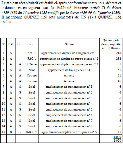 L 39 etat descriptif de division big bang participatif - C est quoi un coup d etat ...